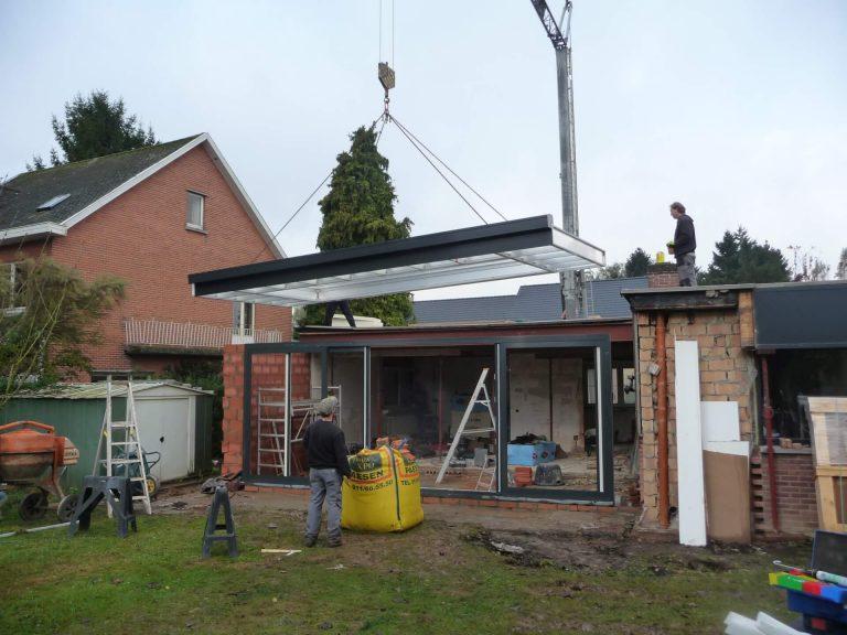 Uitvoering van verbouwing en ruwbouwwerken in de verandabouw